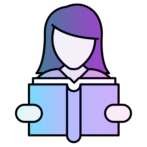Reading graphic. Woman reading book